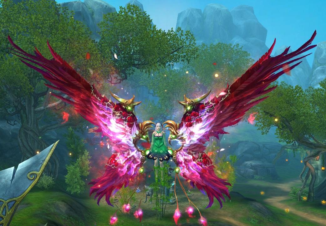 asas do coracao de rosas