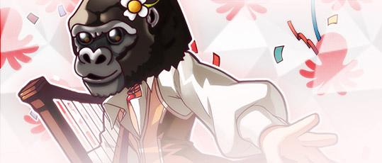Ganhe a nova Máscara da Gorila Chita no Festival do Polvo