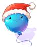 balao de pouring natalino