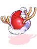 c rudolph santa hat