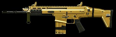 fn scar h gold render