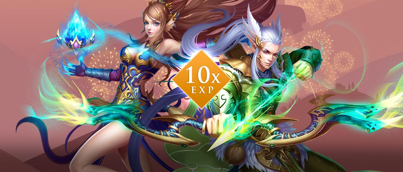 No niver do PW você ganha 10x EXP!